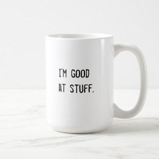 Ich bin am Material gut Kaffeetasse