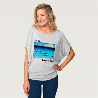 Ich bin auf den Spitzen Strandzeitfrauen T-Shirt