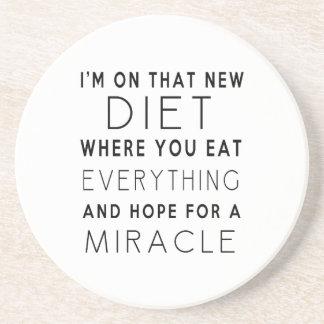 Ich bin auf dieser neuen Diät - lustiges Zitat Sandstein Untersetzer