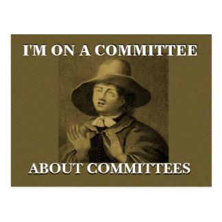 Ich bin auf einem Ausschuss über Ausschuss-Quäker Postkarte