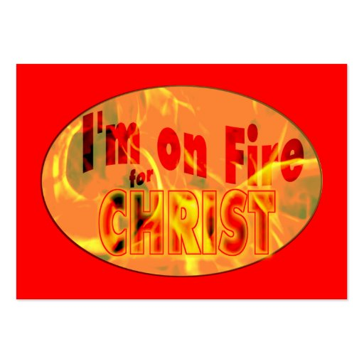 Ich bin auf Feuer für CHRISTUS-Flächen-Karten/ Visitenkartenvorlagen