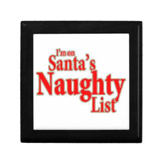 Ich bin auf Sankt frecher Liste Geschenkbox