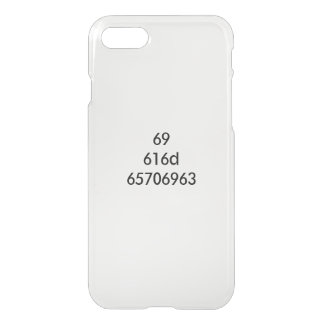 ICH BIN… ausgedrückt in den hexadezimalen Zahlen iPhone 8/7 Hülle