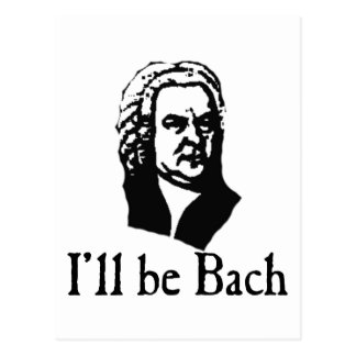 Ich bin Bach Postkarte