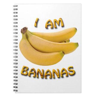 Ich bin Bananen-Notizbuch Notizblock