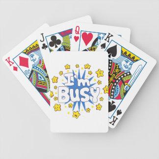 Ich bin beschäftigt bicycle spielkarten