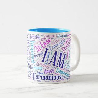 Ich bin Bestätigungs-Tasse Zweifarbige Tasse