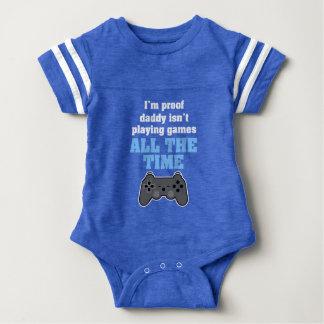 Ich bin Beweisvati spiele nicht Videospiele den Baby Strampler