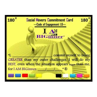 ICH BIN BIGinner- Verpflichtungs-Karte Postkarten