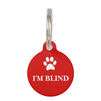 """""""Ich bin BLINDER"""" Bewusstseins-Haustier-Umbau Tiernamensmarke"""