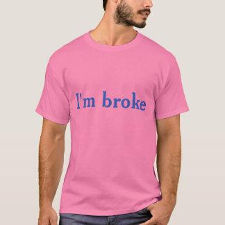 Ich bin brach (klares blaues Schreiben auf Rosa) T-Shirt