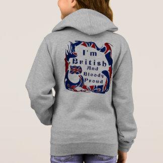 Ich bin britisches und blutiges stolzes hoodie