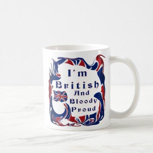 Ich bin britisches und blutiges stolzes kaffeetasse