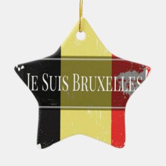Ich bin Brüssel (Je Juis Brüssel) Keramik Ornament