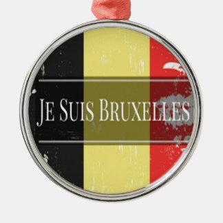 Ich bin Brüssel (Je Juis Brüssel) Silbernes Ornament