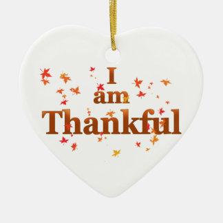 ich bin dankbar keramik Herz-Ornament