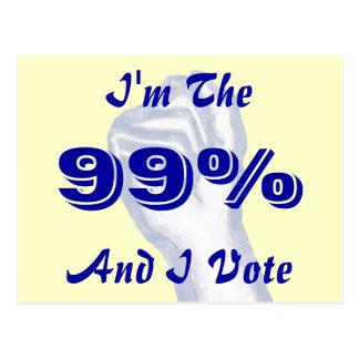 Ich bin das 99% postkarte