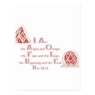 Ich bin das Alpha und das Omega Postkarte