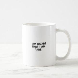 Ich bin, das bewusst, das ich selten bin kaffeetasse
