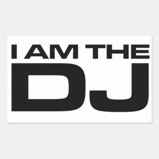Ich bin das DJ Rechteckiger Aufkleber