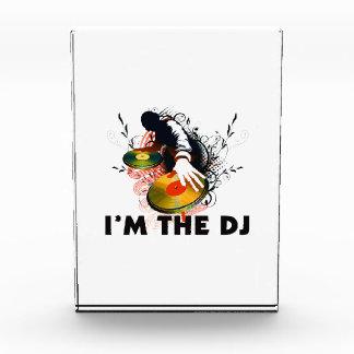 Ich bin das DJ Rockin die Turntable Acryl Auszeichnung