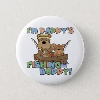Ich bin das Fischen-Freund-T - Shirts und Runder Button 5,7 Cm