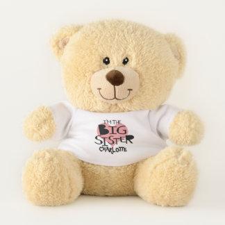 Ich bin das große Schwester-personalisierte Herz Teddybär