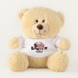 Ich bin das großer Bruder-personalisierte Herz Teddybär