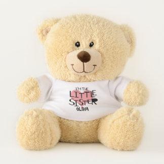 Ich bin das kleine Schwester-personalisierte Herz Teddybär