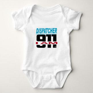 Ich bin das Material mit 911 Logos für Feuer, EMS, Baby Strampler