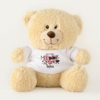Ich bin das mittlere Schwester-personalisierte Teddybär