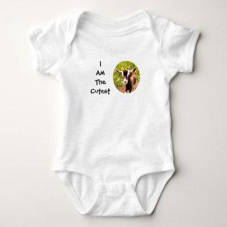 Ich bin das niedlichste Kind (Foto der Babyziege) Baby Strampler