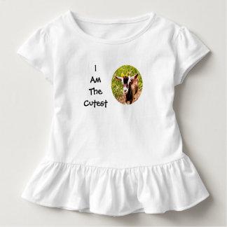 Ich bin das niedlichste Kind (Foto der Babyziege) Kleinkind T-shirt
