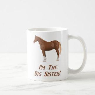 Ich bin das Pferd der großen Schwester Kaffeetasse