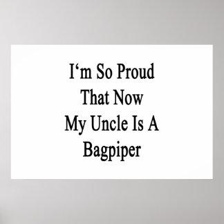 Ich bin dass jetzt mein Onkel Is A Bagpiper so Poster