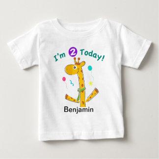 Ich bin der 2. Geburtstag 2 heute Kleinkindes Baby T-shirt