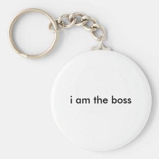 ich bin der Chef Standard Runder Schlüsselanhänger