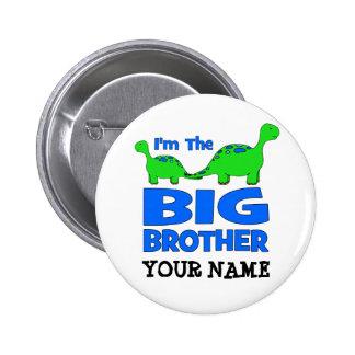 Ich bin der große Bruder! Kundenspezifischer Dinos Runder Button 5,7 Cm