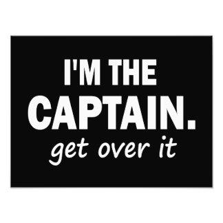 Ich bin der Kapitän. Erhalten Sie über ihm - Kunstfotos