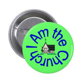 Ich bin der Kirchen-Knopf Runder Button 5,1 Cm