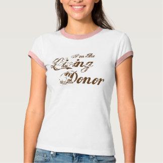 Ich bin der lebende Spender - Vintages Braun T-Shirt