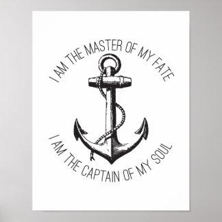 Ich bin der Meister meines Schicksals-Plakats Poster