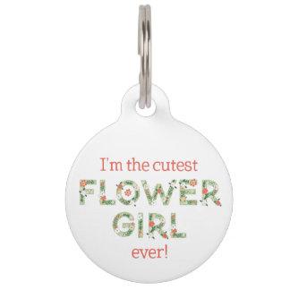 Ich bin der niedlichstes Blumen-Mädchen-große Tiernamensmarke