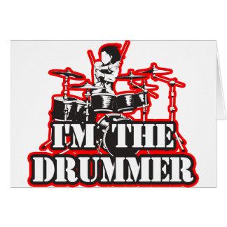 Ich bin der Schlagzeuger Grußkarte