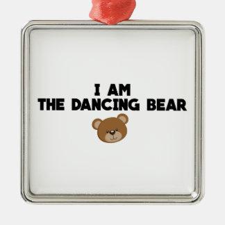 Ich bin der Tanzen-Bär Silbernes Ornament