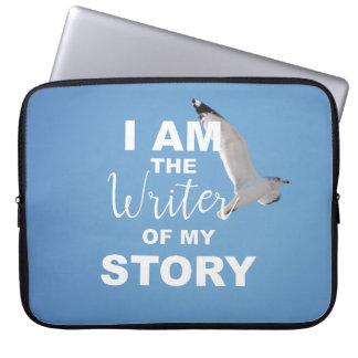 Ich bin der Verfasser meiner Geschichte, blauer Laptopschutzhülle