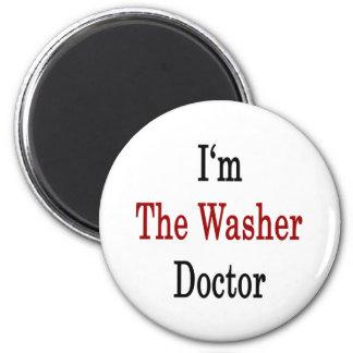 Ich bin der Waschmaschinen-Doktor Runder Magnet 5,1 Cm