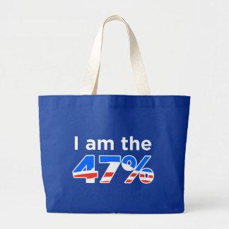 Ich bin die 47% Obama Taschen-Tasche Jumbo Stoffbeutel