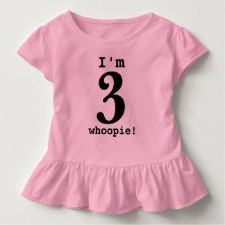 Ich bin die drei Kleinkind-Rüsche-T-Stück Kleinkind T-shirt