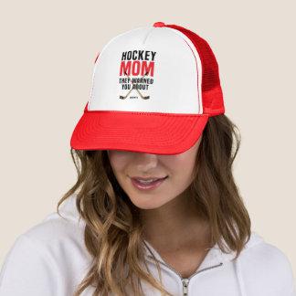 Ich bin die Hockey-Mamma, die sie Sie über Rot Truckerkappe